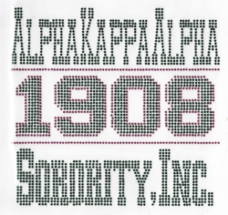 View Buying Options For The Alpha Kappa Alpha Sorority, Inc. 1908 Rhinestud Heat Transfer