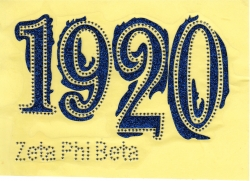 View Buying Options For The Zeta Phi Beta Glitter Year 1920 Studded Heat Transfer