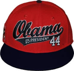 View Buying Options For The Pres. Barack Obama Athletic Script S4 Mens Snapback Cap