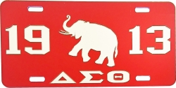 View Buying Options For The Delta Sigma Theta 1913 Elephant Mirror License Plate