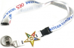 View Buying Options For The Eastern Star PVC Symbol Lanyard Keychain