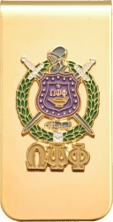 View Buying Options For The Omega Psi Phi Raised Escutcheon Shield Money Clip