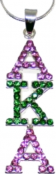 View Buying Options For The Alpha Kappa Alpha Drop Letter Crystal Pendant with Chain