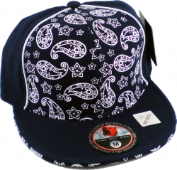 View Buying Options For The Tear Drop Paisley Bandanna Style Piping Mens Fitted Cap
