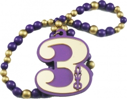 View Buying Options For The Omega Psi Phi Line #3 Mirror Wood Color Bead Tiki Necklace
