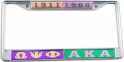 View Buying Options For The Omega Psi Phi + Alpha Kappa Alpha Split License Plate Frame