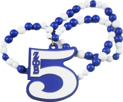 View Buying Options For The Zeta Phi Beta Line #5 Mirror Wood Color Bead Tiki Necklace