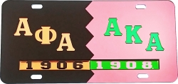 View Buying Options For The Alpha Phi Alpha + Alpha Kappa Alpha Split Mirror License Plate