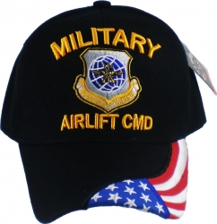 View Buying Options For The Military Airlift Command Flag Draped Bill Mens Cap