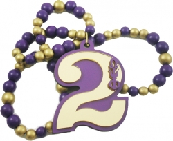 View Buying Options For The Omega Psi Phi Line #2 Mirror Wood Color Bead Tiki Necklace