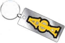 View Buying Options For The Greek Vertical Outline Mirror Key Chain