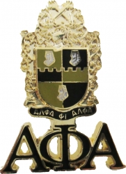 View Buying Options For The Alpha Phi Alpha Shield Drop Letter Lapel Pin