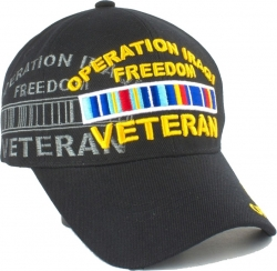 View Buying Options For The Operation Iraqi Freedom Veteran Ribbons Shadow Mens Cap