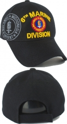 View Buying Options For The 6th Marine Division Emblem Shadow Mens Cap