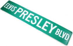 View Buying Options For The Elvis Presley Boulevard Metal Road Street Sign