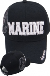 View Buying Options For The Marine Block Text Shadow Mens Cap