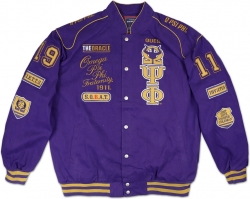 View Buying Options For The Omega Psi Phi Divine 9 S5 Mens NASCAR Twill Jacket