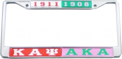 View Buying Options For The Kappa Alpha Psi + Alpha Kappa Alpha Split License Plate Frame