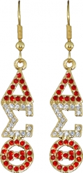 View Buying Options For The Delta Sigma Theta Austrian Crystal Earrings