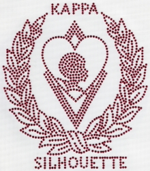 View Buying Options For The Kappa Alpha Psi Sweetheart Silhouette Wreath Rhinestud Heat Transfer