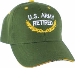 View Buying Options For The U.S. Army Retired Gold Leaf Scrambled Eggs Mens Cap