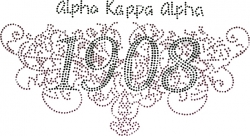 View Buying Options For The Alpha Kappa Alpha Filigree Founding Studstone Heat Transfer