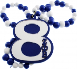 View Buying Options For The Zeta Phi Beta Line #8 Mirror Wood Color Bead Tiki Necklace