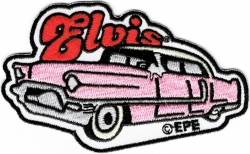 View Buying Options For The Elvis Presley Pink Caddy Embroidered Iron-On Patch