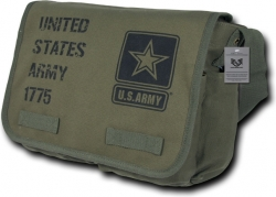 View Buying Options For The RapDom U.S. Army Strong Star Logo Tone-On-Tone Messenger Bag