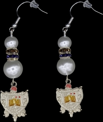View Buying Options For The Sigma Gamma Rho Crest Pearl Earrings