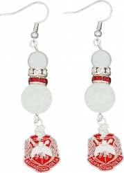 View Buying Options For The Delta Sigma Theta Crest Pearl Earrings