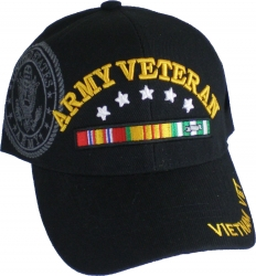 View Buying Options For The Army Vietnam Veteran Ribbons & Stars Shadow Mens Cap