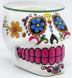 View Buying Options For The Sugar Skull Shaped Candle Aroma Lamp