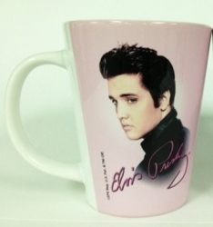View Buying Options For The Elvis Presley Pink Foil Photo Latte Mug