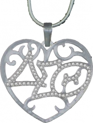 View Buying Options For The Delta Sigma Theta Ladies Crystal Filigree Heart Necklace