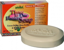 View Buying Options For The Madina Three In One Butter Natural Skin Cleansing Soap [Pre-Pack]