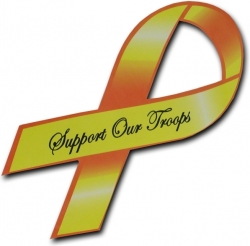 View Buying Options For The RapDom Support Our Troops Awareness Ribbon Car Magnet [Pre-Pack]