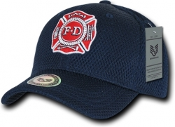 View Buying Options For The RapDom Fire Dept. Public Safety Mens Air Mesh Cap