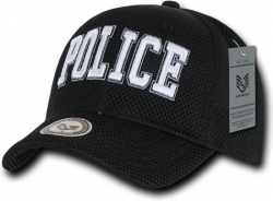 View Buying Options For The RapDom Police Text Embroidered Public Safety Mens Air Mesh Cap