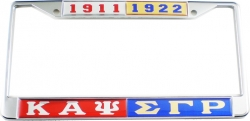View Buying Options For The Kappa Alpha Psi + Sigma Gamma Rho Split License Plate Frame