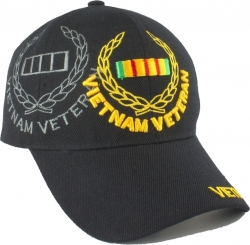 View Buying Options For The Vietnam Veteran Leaf Ribbon Emblem Shadow Mens Cap