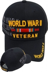 View Buying Options For The World War II 1941-1945 Ribbons Shadow Mens Cap
