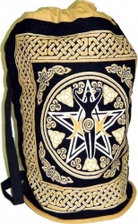 View Buying Options For The New Pentacle Print Cotton Sling-Style Backpack: