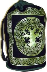 View Buying Options For The Tree of Life Print Cotton Sling-Style Backpack: