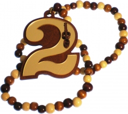 View Buying Options For The Iota Phi Theta Line #2 Mirror Wood Color Bead Tiki Necklace