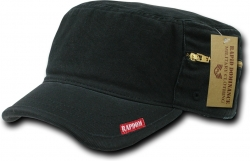 View Buying Options For The RapDom Plain Vintage Washed Patrol Mens Cadet Cap with Zipper