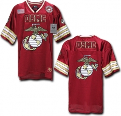 View Buying Options For The RapDom US Marine Corps USMC Logo Mens Football Jersey