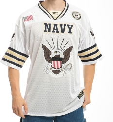 View Buying Options For The RapDom Navy Eagle Logo Mens Football Jersey