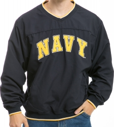 View Buying Options For The RapDom Navy Text Microfibre Mens Pullover Jacket