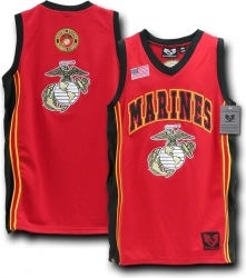 View Buying Options For The RapDom Marines Globe & Anchor Logo Mens Basketball Jersey